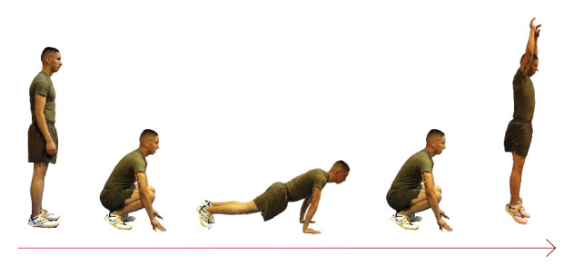 Burpees homme