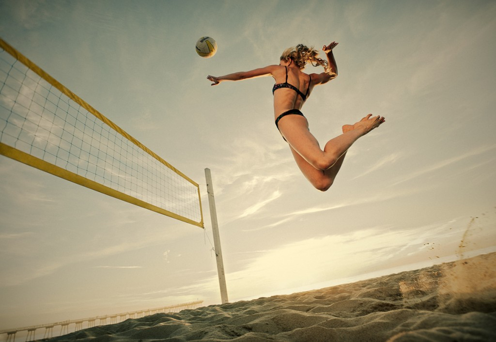 Volleyball sport explosif