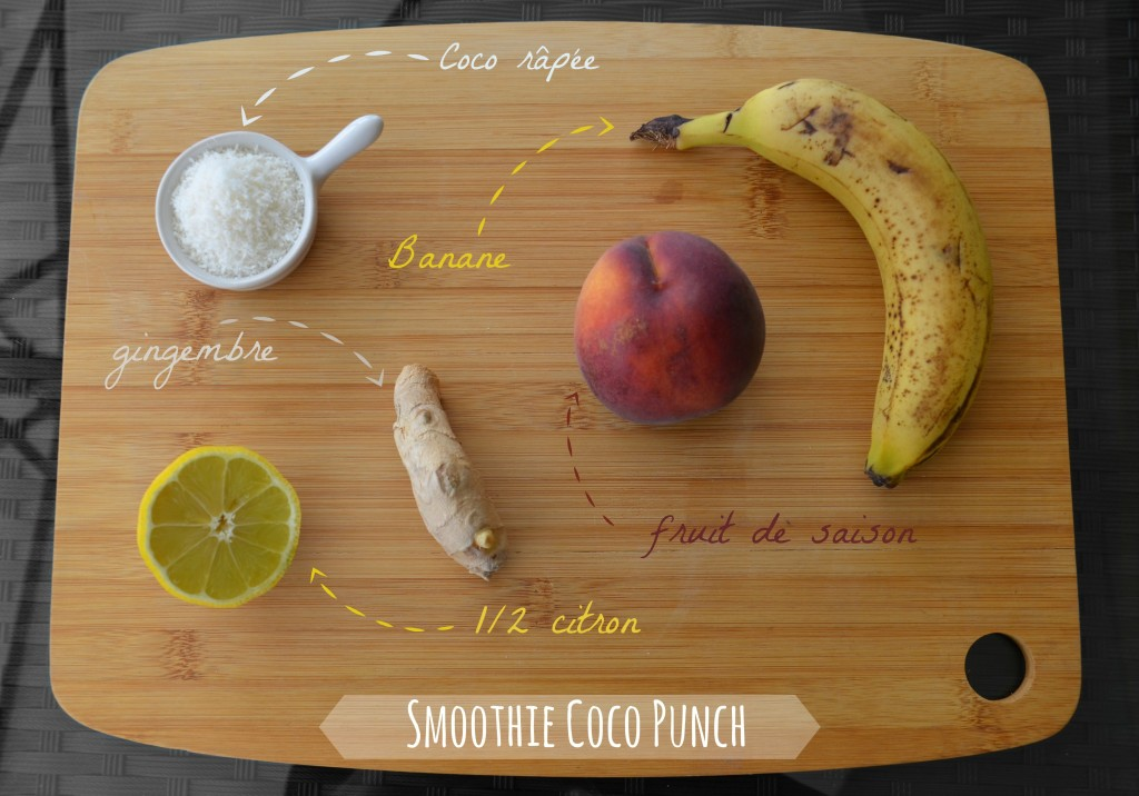 Ingrédients smoothie coco punch