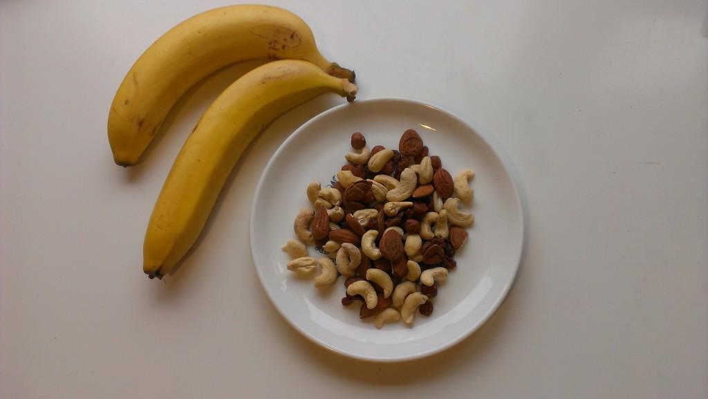 alimentation vivante banane noix