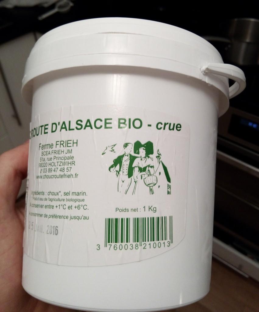 choucroute crue pot