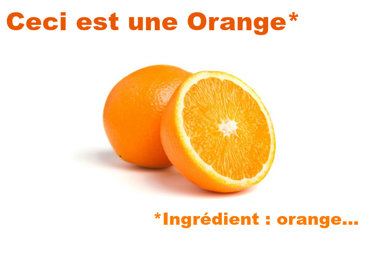 orange ingrédients