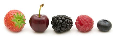 Antioxydants fruits colorés