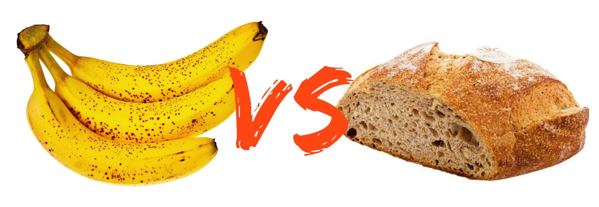 banane vs pain charge glycémique