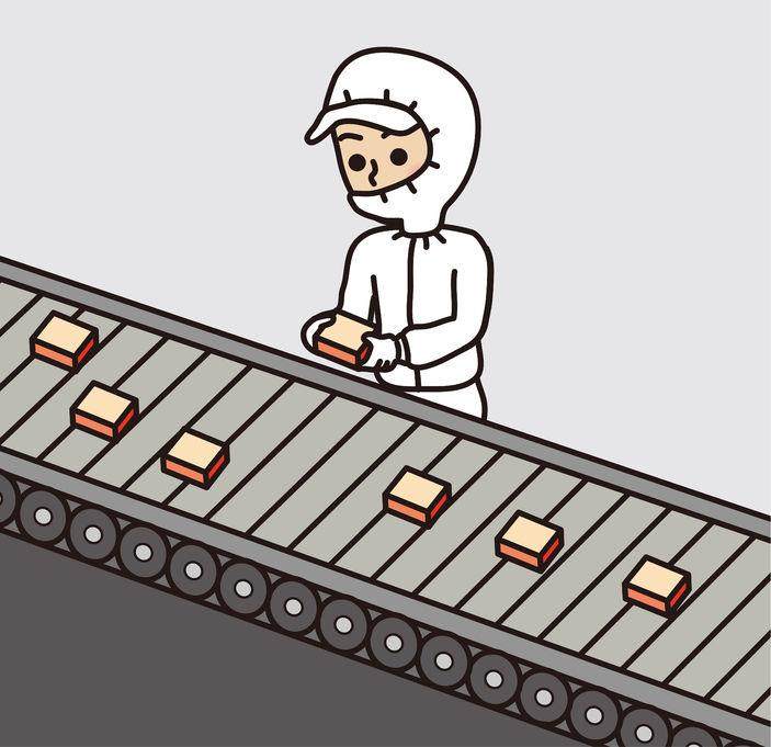 Nourriture industrielle chaîne
